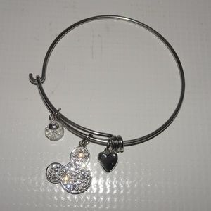 "Disney ""I Love Mickey"" Charm Bangle Bracelet"